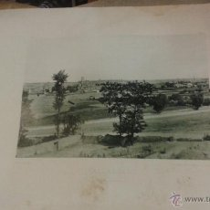 Fotografía antigua: LÁMINA 24 X 30 CM FOTOTIPIA HAUSER Y MENET. VALLADOLID VISTA GENERAL. Lote 50348989