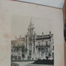 Fotografía antigua: LÁMINA 24 X 30 CM FOTOTIPIA HAUSER Y MENET. VALLADOLID LA UNIVERSIDAD. Lote 50354664