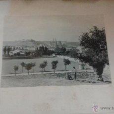 Fotografía antigua: LÁMINA 24 X 30 CM FOTOTIPIA HAUSER Y MENET. BURGOS VISTA GENERAL.. Lote 50425294