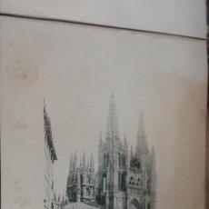 Fotografía antigua: LÁMINA 24 X 30 CM FOTOTIPIA HAUSER Y MENET. BURGOS LA CATEDRAL. Lote 50425378