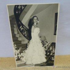 Fotografía antigua: FOTOGRAFIA ORIGINAL DE LA PRINCESA CRISTINA DE BAVIERA EN SU PUESTA DE LARGO, FECHADA EN 1953. Lote 151893609