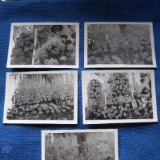 Fotografia antiga: SEMANA SANTA SEVILLA - LOTE 5 FOTOGRAFIAS DETALLES DEL PASO NTRA SRA. SALUD DE SAN GONZALO - 10X8 CM. Lote 50702701