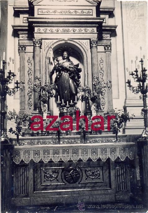 VITORIA,1933, CONVENTO DE LAS BRIGIDAS, ALTAR DE SAN JOSE,58X85MM (Fotografía Antigua - Fotomecánica)