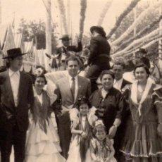 Fotografía antigua: SEVILLA 1958 , ANTIGUA FOTOGRAFIA, ESCENA DE FERIA, 97X67 MM. Lote 51941987