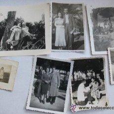 Fotografía antigua: LOTE DE 7 FOTOGRAFIAS DE PAREJAS . FOTOS DE LOS AÑOS 30- 40 . Lote 52123671