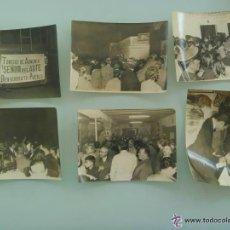 Fotografía antigua: LOTE DE 6 FOTOS DEL RECIBIMIENTO DEL TORERO CURRO ROMERO EN SU PUEBLO, CAMAS . AÑOS 60 O 70. Lote 52126065