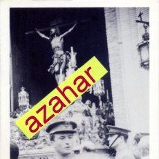 Fotografía antigua: SEMANA SANTA DE SEVILLA, ANTIGUA FOTOGRAFIA SALIDA COFRADIA DEL CACHORRO,75X105MM. Lote 52143122