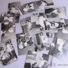 Fotografía antigua: LOTE DE 15 FOTOGRAFIAS ANTIGUAS, DE UNA ORGIA - FIESTA. GRUPO DE GENTE. -DOCI-. Lote 52452476