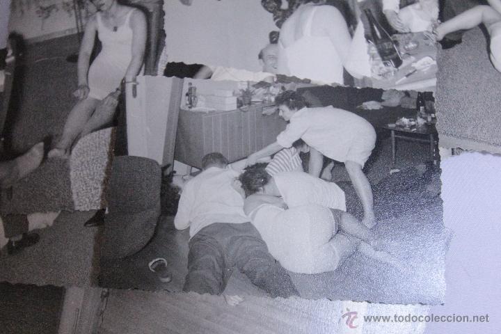Fotografía antigua: LOTE DE 15 FOTOGRAFIAS ANTIGUAS, DE UNA ORGIA - FIESTA. GRUPO DE GENTE. -DOCI- - Foto 2 - 52452476