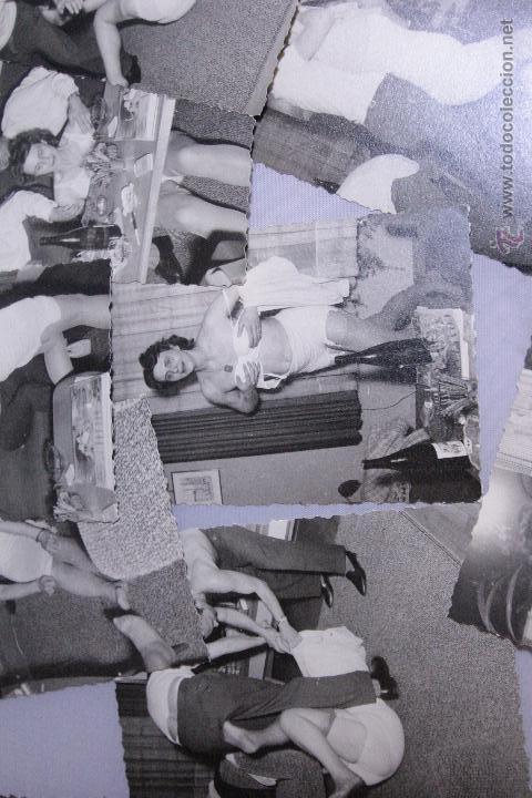 Fotografía antigua: LOTE DE 15 FOTOGRAFIAS ANTIGUAS, DE UNA ORGIA - FIESTA. GRUPO DE GENTE. -DOCI- - Foto 5 - 52452476