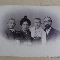 Fotografía antigua: FG-56. FOTOGRAFIA FAMILIAR DE ESTUDIO. FINAL SIGLO XIX. J. MARINÉ, BARCELONA.. Lote 52556918