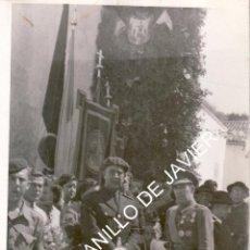 Fotografía antigua: OSUNA - ACTOS CON MOTIVO DE LA VISITA DEL GENERALISIMO FRANCISCO FRANCO A LA VILLA -9X14 CM . Lote 52560764
