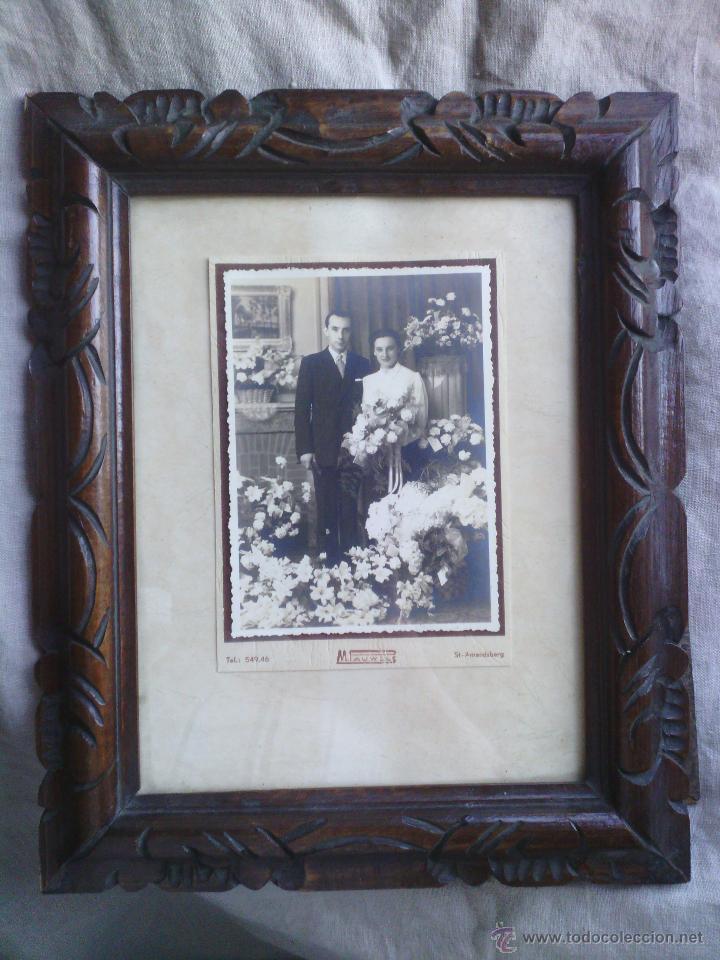 fotografia antigua de pareja con marco en mader - Comprar Fotografía ...