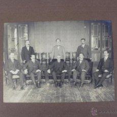 Fotografía antigua: FG-81. FOTOGRAFIA DE GRUPO CON DON NICETO ALCALÁ ZAMORA EN EL CENTRO. 1910-1920.. Lote 52655784