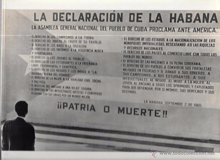 CUBA. DECLARACIÓN DE LA HABANA. 22,3 X 29 CM (Fotografía Antigua - Fotomecánica)