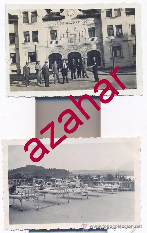 SANTADER,AÑOS 40, LOTE DOS FOTOGRAFIAS CASA DE SALUD VALDECILLA,88X60MM (Fotografía Antigua - Fotomecánica)