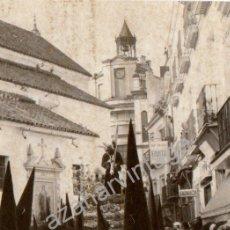 Fotografía antigua: SEMANA SANTA DE SEVILLA, EL CRISTO DE LOS GITANOS POR SANTA CATALINA,74X112MM. Lote 53613404