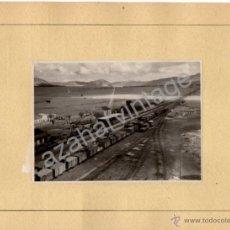 Fotografía antigua: ALMORCHON, BADAJOZ,1945,VISTA DE LA ESTACION DEL FERROCARRIL, ESPECTACULAR,120X86MM SIN CARTON. Lote 53681775