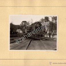 Fotografía antigua: ALMORCHON, BADAJOZ,1945,VISTA DE LA ESTACION DEL FERROCARRIL, ESPECTACULAR,120X86MM SIN CARTON. Lote 53681803