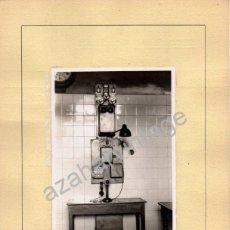 Fotografía antigua: ALMORCHON, BADAJOZ,1945,INTERIOR ESTACION DEL FERROCARRIL, ESPECTACULAR,120X86MM SIN CARTON. Lote 53681900