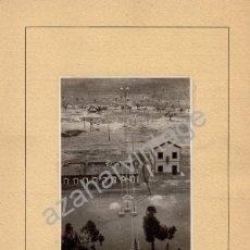 Fotografía antigua: ALMORCHON, BADAJOZ,1945,DETALLE ESTACION DEL FERROCARRIL, ESPECTACULAR,120X86MM SIN CARTON. Lote 53682339