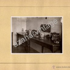 Fotografía antigua: ALMORCHON, BADAJOZ,1944, DETALLE CENTRALITA ESTACION FERROCARRIL, SIN CARTON 124X88MM. Lote 53690178