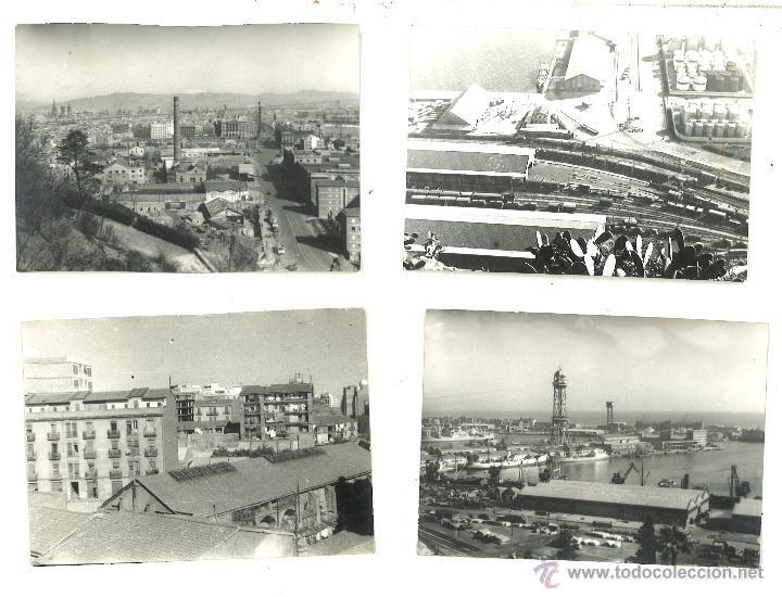 4 FOTOGRAFÍAS DE BARCELONA. AÑO 1963 (Fotografía Antigua - Fotomecánica)