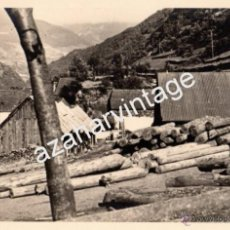 Fotografía antigua: VALLE DE ARAN, LERIDA, DETALLE SERRERIA DE LAS BORDAS, 180X120MM. Lote 54032301