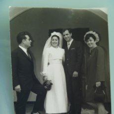 Fotografía antigua: FOTO DE BODA AÑOS 50-60 . ... 12,5 X 17,5 CM.. Lote 54155982