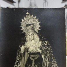 Fotografía antigua: ANTIGUA FOTOGRAFIA DE VIRGEN DE LA SOLEDAD.SERVITAS.FOTO FERNAND.SEVILLA AÑOS 50,60. Lote 257459775