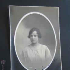 Fotografía antigua: RETRATO FOTÓGRAFO GARRORENA. MUJER. BADAJOZ. AÑO 1920. . Lote 54637416