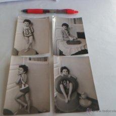 Fotografía antigua: 4 FOTOS DE NIÑA POSANDO - AÑOS 60. Lote 54836586