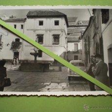 Fotografía antigua: CÓRDOBA FOTOGRAFIA ANTIGUA ORIGINAL PLAZA DEL POTRO FUENTE MUSEO ROMERO DE TORRES ENVÍO GRATIS. Lote 55009606