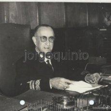 Fotografía antigua: EL ALMIRANTE D.ADOLFO BATURONE COLOMBO. MINISTRO DE LA MARINA DE 1969 A 1973.. Lote 55356246