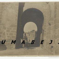 Fotografía antigua - Toledo. Fotografía antigua. Puerta del puente de Alcántara. - 55368912