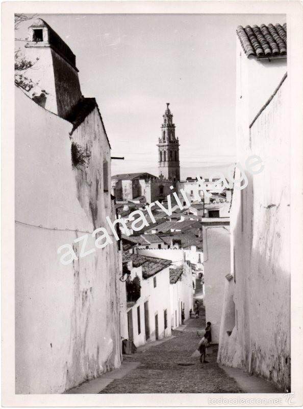 JEREZ DE LOS CABALLEROS, BADAJOZ, ESPECTACULAR VISTA DEL PUEBLO,180X240MM (Fotografía Antigua - Fotomecánica)