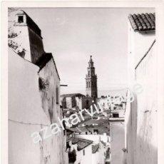 Fotografía antigua: JEREZ DE LOS CABALLEROS, BADAJOZ, ESPECTACULAR VISTA DEL PUEBLO,180X240MM. Lote 55407616