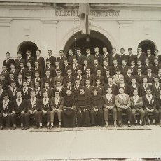 Fotografía antigua: FOTO GRUPO DE ALUMNOS PROMOCION COLEGIO FRANCISCANOS LA CONCEPCIÓN DE ONTENIENTE. Lote 55927817