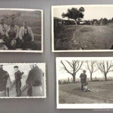 Alte Fotografie - Lote 4 fotos antiguas de cazadores y batidas de caza - 56317911