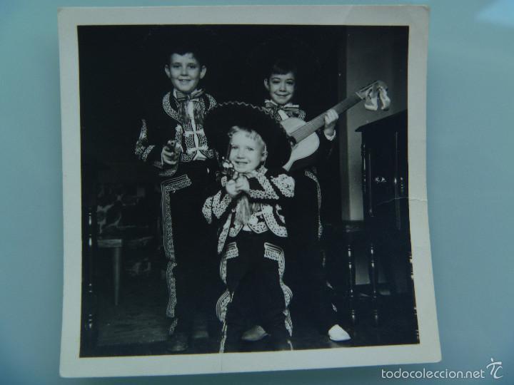 Foto De Un Grupo De Niños Vestidos De Charros Mariachi Mexico 1954