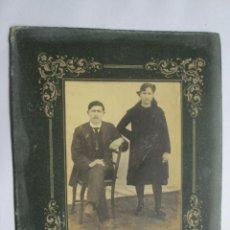 Fotografía antigua: HOMBRE Y MUJER. HOMME ET FEMME. MAN AND WOMAN. CARTON DURO. HARD CARDBOARD. Lote 56401716
