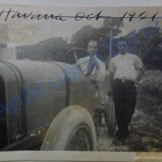 Fotografía antigua: FOTOGRAFÍA ANTIGUA ORIGINAL. HABANA. CUBA. COCHE ANTIGUO. 1921. (11 X 9 CM). Lote 56488156