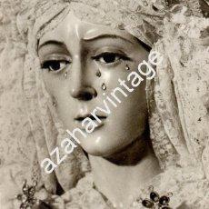 Fotografía antigua: SEMANA SANTA DE SEVILLA, ANTIGUA FOTOGRAFIA DE LA ESPERANZA MACARENA,,125X145MM. Lote 56631237
