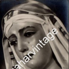 Fotografía antigua: SEMANA SANTA DE SEVILLA,ANTIGUA FOTOGRAFIA VIRGEN DE LAS MERCEDES DE HEBREA, SANTA GENOVEVA,90X140MM. Lote 56682147
