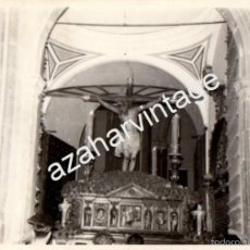 Fotografía antigua: SEMANA SANTA DE SEVILLA,ANTIGUA FOTOGRAFIA SALIDA DEL CRISTO DE BURGOS,105X75MM. Lote 56744929