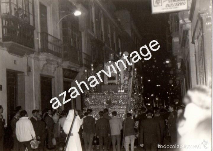SEMANA SANTA DE SEVILLA, ANTIGUA FOTOGRAFIA TRASERA PASO CRISTO LA BOFETA ,105X75MM (Fotografía Antigua - Fotomecánica)