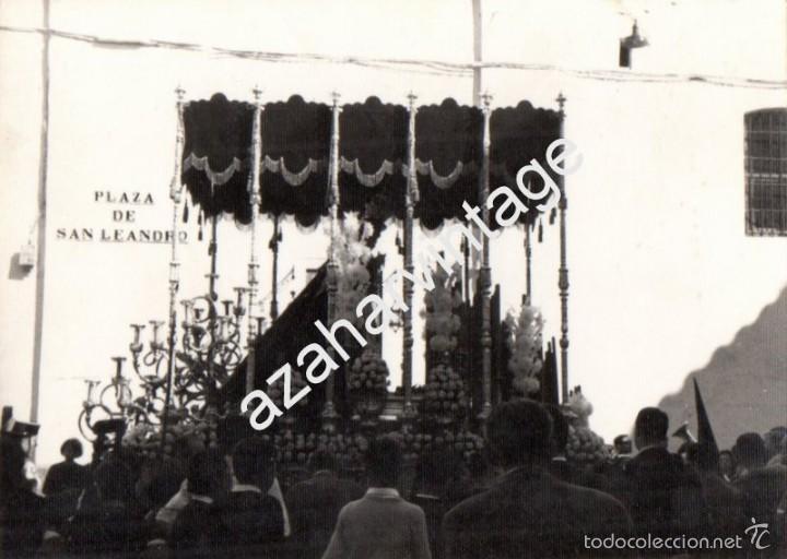SEMANA SANTA DE SEVILLA, ANTIGUA FOTOGRFIA, PALIO DE LA VIRGEN DEL ROCIO POR SAN LEANDRO,75X105MM (Fotografía Antigua - Fotomecánica)