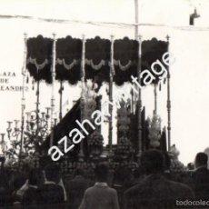 Fotografía antigua: SEMANA SANTA DE SEVILLA, ANTIGUA FOTOGRFIA, PALIO DE LA VIRGEN DEL ROCIO POR SAN LEANDRO,75X105MM. Lote 56901106