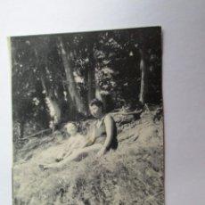 Fotografía antigua: MADRE Y NIÑOS EN EL PARQUE. MOTHER AND CHILDREN IN THE PARK. MÈRE ET ENFANTS DANS LE PARC.. Lote 57096970