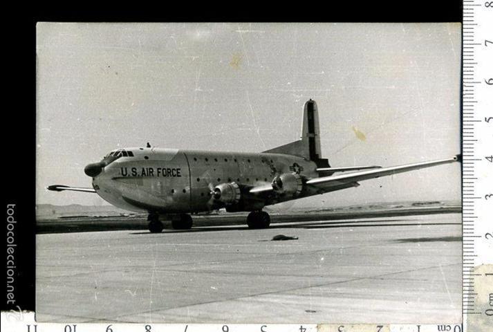 FOTOGRAFIA MILITAR AVION FUERZA AEREA DE ESTADOS UNIDOS U.S AIR FORCE (Fotografía Antigua - Fotomecánica)